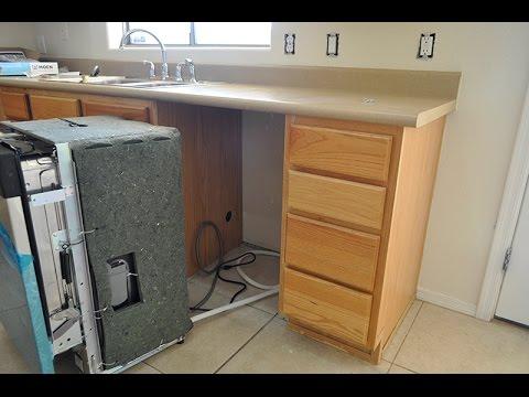 Photo of installing dishwasher